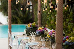 private villa in bali with trendy decor