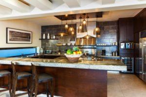 big open plan kitchen in private villa in cabo