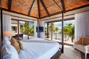 master suite view in oceanfront private villa