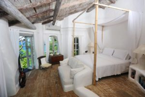 view of the master suite in a private villa in saint lucia