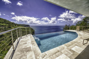 infinity pool overlooking the beach in saint lucia private villa