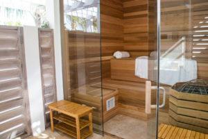 private villa wooden sauna