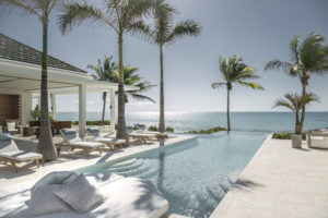 beautiful villa with infinity pool view on the beach